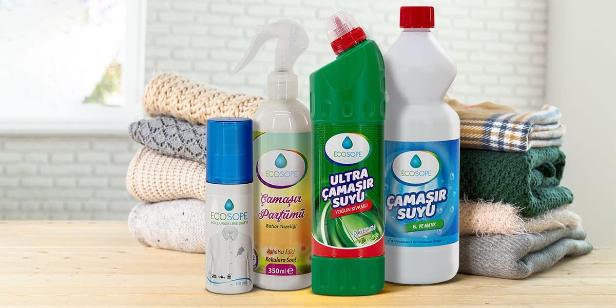 Ecosope çamaşır hijyen ve temizlik ürünleri